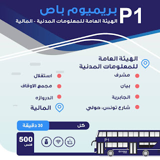 Kuwait bus route PACI to Maliya : City Bus Route P1 2