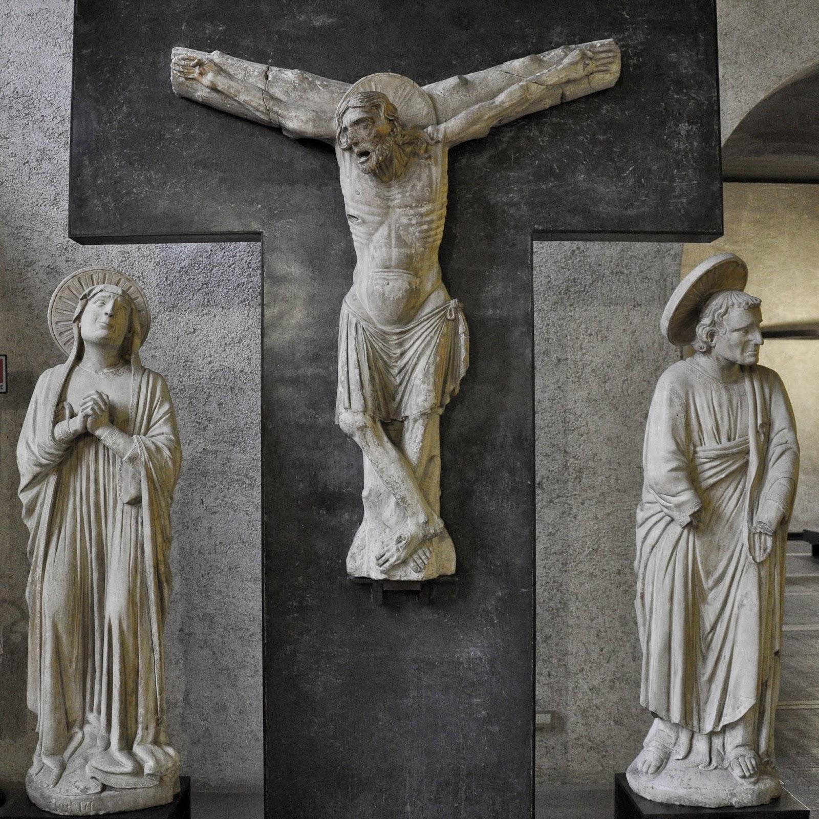 A medieval crucifixion in the Museum of Castelvecchio in Verona