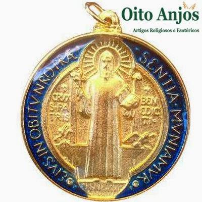 Medalha Oração  São Bento | Oito Anjos Artigos Religiosos e Loja Esotérica