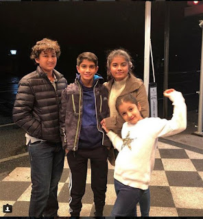 Mahesh family New York holiday Photos
