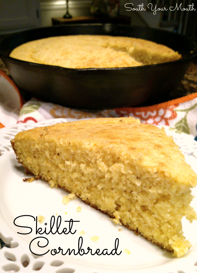 Classic Southern cornbread made in a hot skillet with buttermilk and bacon grease.