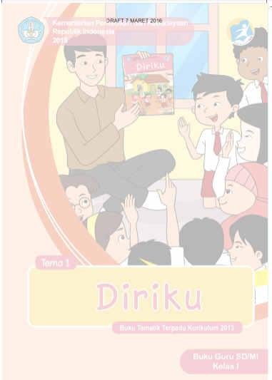 Buku Kurikulum 2013 Kelas 1 SD/MI Revisi Tahun 2016
