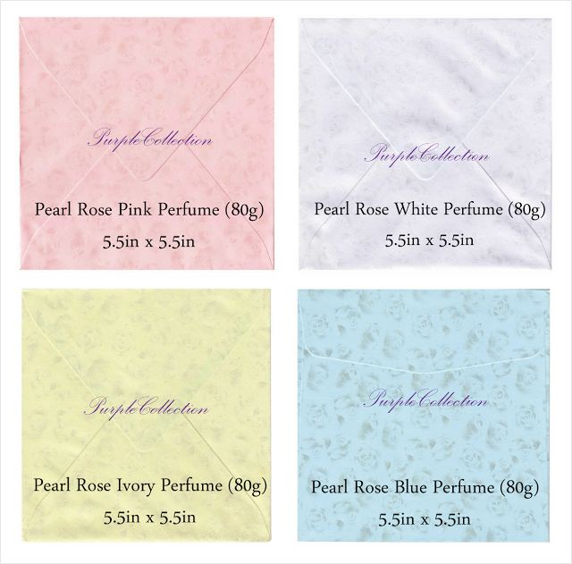 pearl rose pink perfume envelope, pearl rose white perfume envelope, pearl rose ivory perfume envelope, pearl rose blue perfume envelope, plain envelope 80g, red, pink, beige, ivory, purple, lilac, light blue, white, long envelope, wallet, 4.5 x 8.75 inch, kuala lumpur, selangor, malaysia, JB, johor bahru, Singapore, online purchase, buy, sale, sell