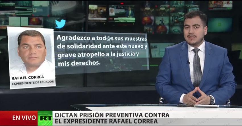 Jueza ordena prisión preventiva contra expresidente de Ecuador, Rafael Correa