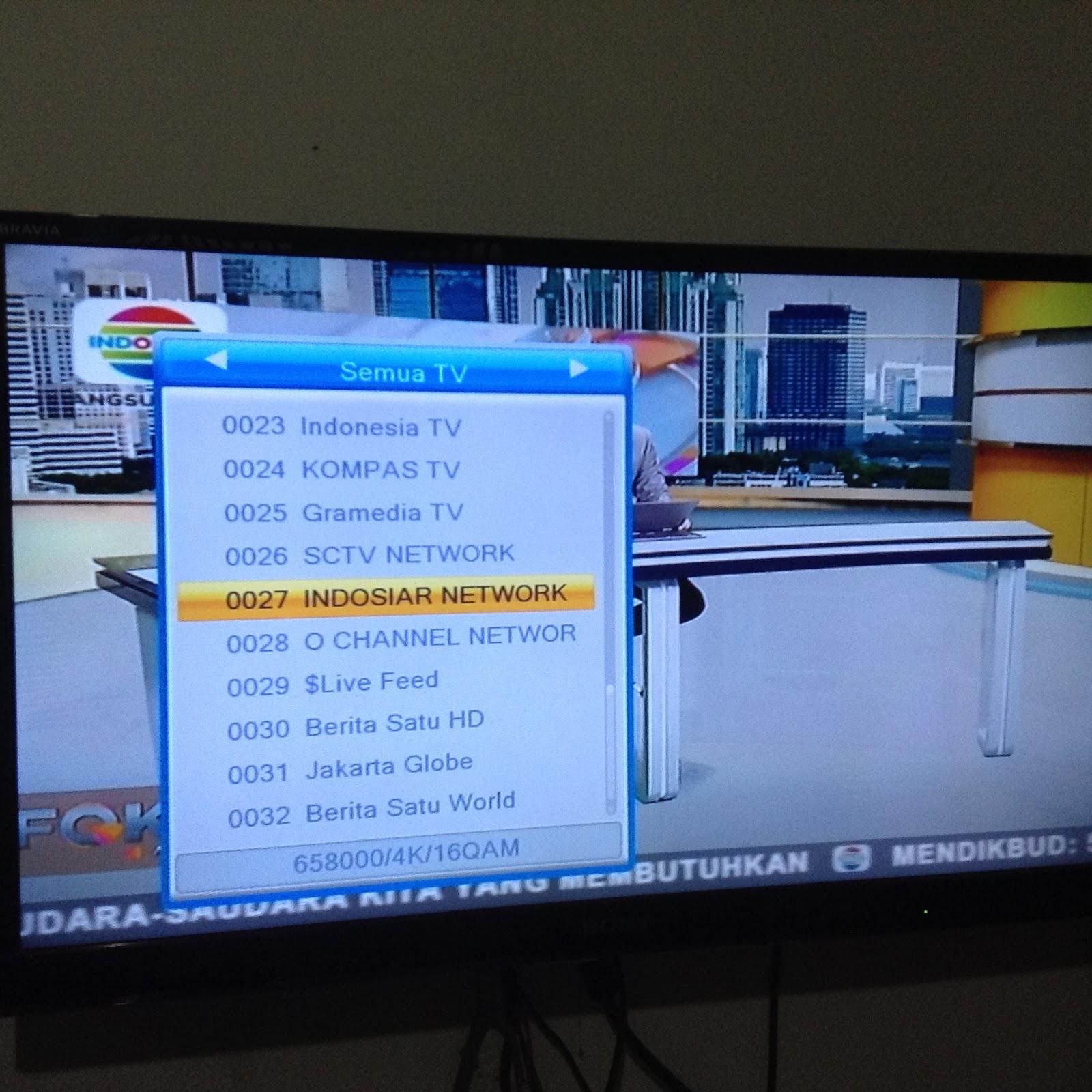 daftar saluran channel tv digital dvb