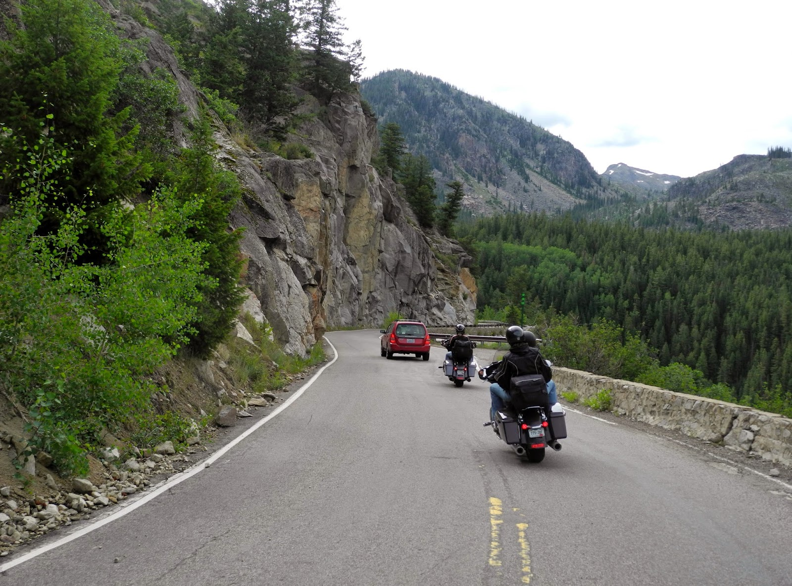 pillion papers: colorado mountain passes and rivers on the bmw