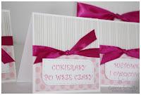 różowy bar cukierkowy etykietki słodycze urodzinowe