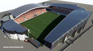 Overzicht nieuw stadion KV Mechelen