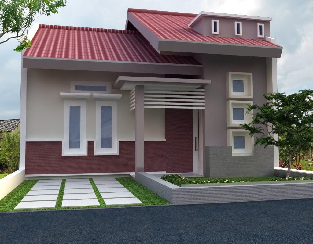 denah rumah satu lantai minimalis