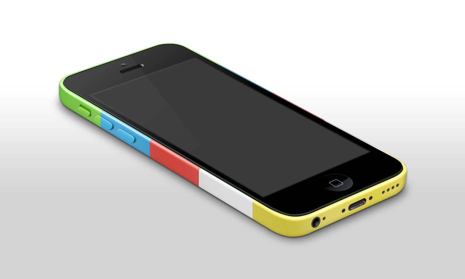 Perspective iPhone 5C Mockup Template