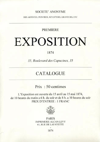 Exposition affiche | First Impressionist exhibition, 1874