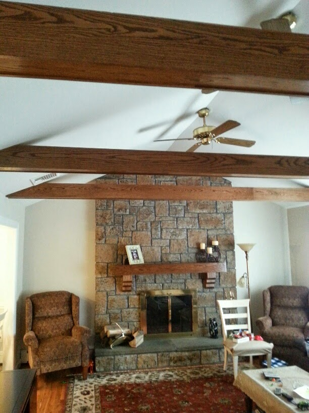 Custom Beams and Mantel