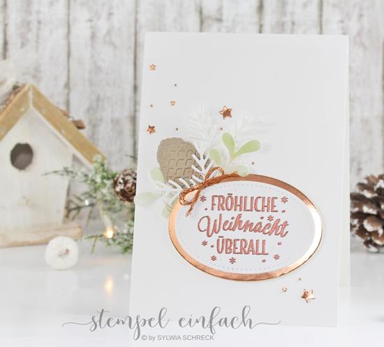 stampin up - drauf und dran - Weihnachtskarte - stempel einfach