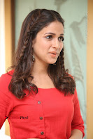 Actress Lavanya Tripathi Latest Pos in Red Dress at Radha Movie Success Meet .COM 0145.JPG