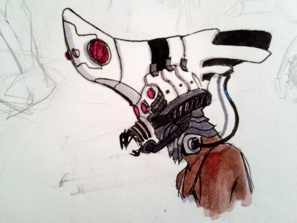 character design, sketchbook, alien creature, robot, female robot, sex robot, sex girl, android, androide, robot possession, sci-fi, robot slave, escrava robo, game, video game, douglas deri, deri, deriart, robot elm, elmo robo