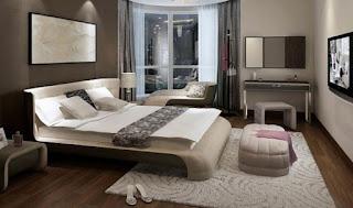 kamar tidur lantai kayu