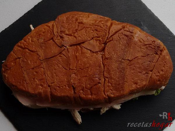 Receta del croissant relleno