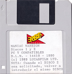 Maniac Mansion Disquete