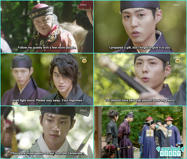 crown prince with the help of Byung Yun & Yoon Sung show the real face of Qing to their investigators - Love in The Moonlight - Episode 6 Review