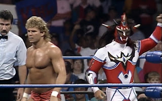 WCW Great American Bash 1992 - Brian Pillman & Jushin Liger teamed up to face Ricky Steamboat & Nikita Koloff