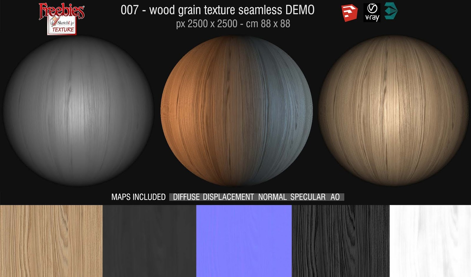 SKETCHUP TEXTURE: Freebies today: wood grain texture