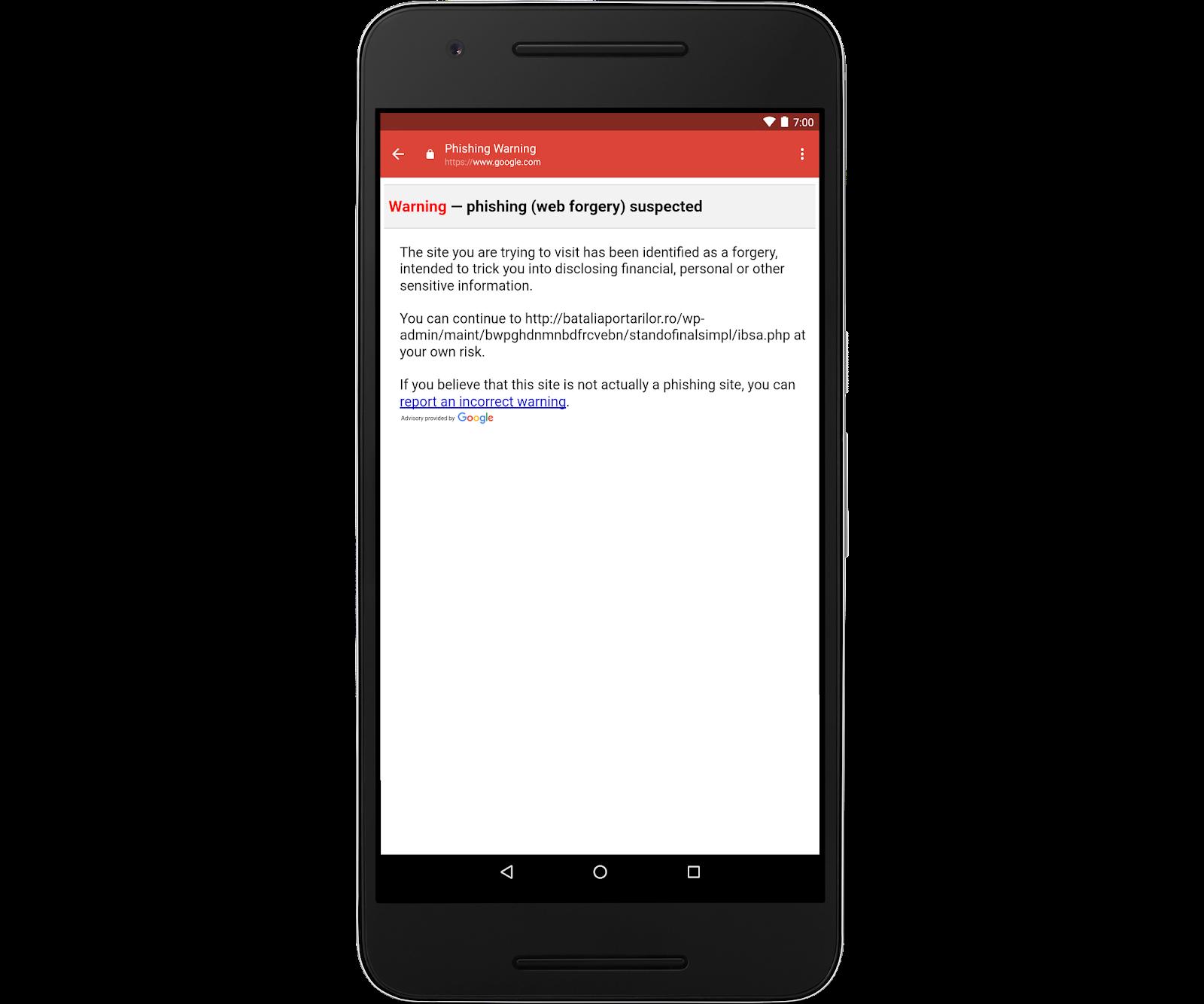 Google porta l'antiphishing su Gmail per Android