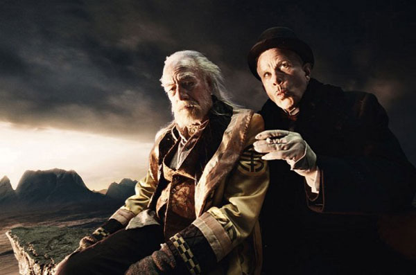 Christopher Plummer and Tom Waits in The Imaginarium of Doctor Parnassus