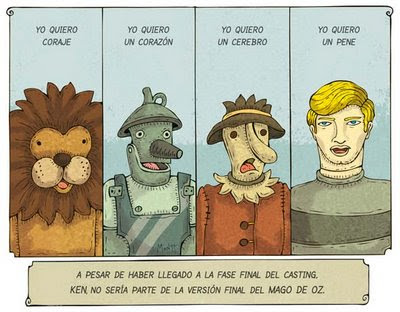 Meme de humor sobre el Mago de Oz