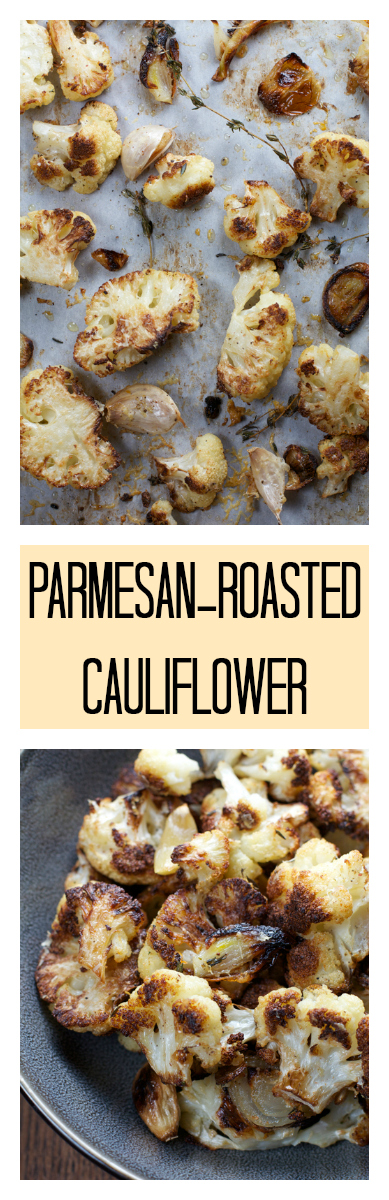 Parmesan-Roasted Cauliflower || A Less Processed Life