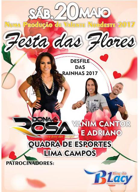 VALENTE NORDESTE, APRESENTA FESTA DAS FLORES
