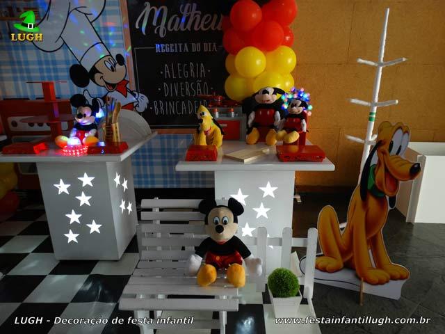 Decoração Mickey na Cozinha para festa infantil