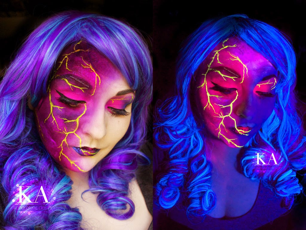 05-Black-Light-Lightning-Katie-Alves-Makeup Paint Effects-www-designstack-co