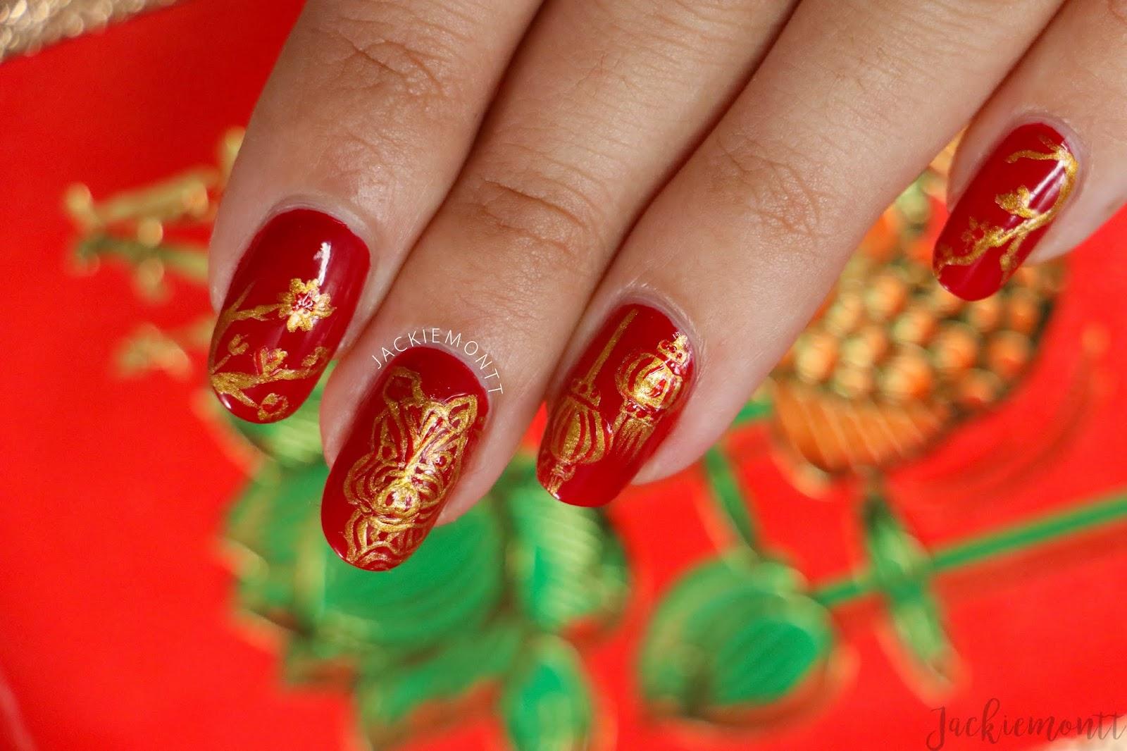 Chinese New Year Nail Art Jackiemontt