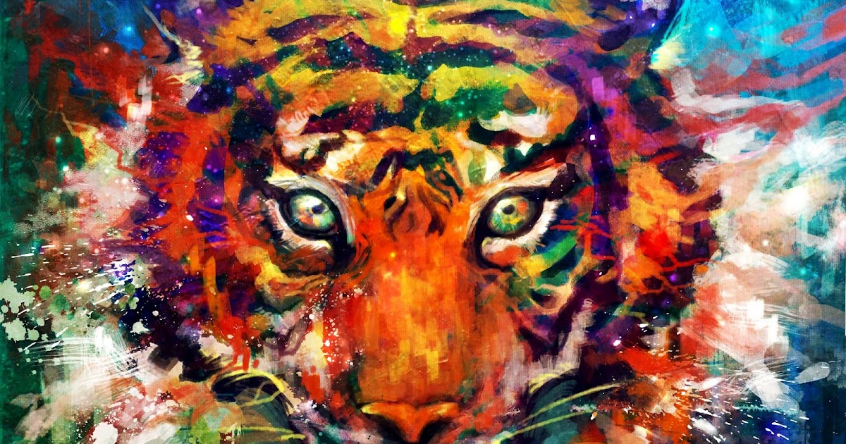 Fondo Pintura De Un Tigre Full Hd En Fondos 1080