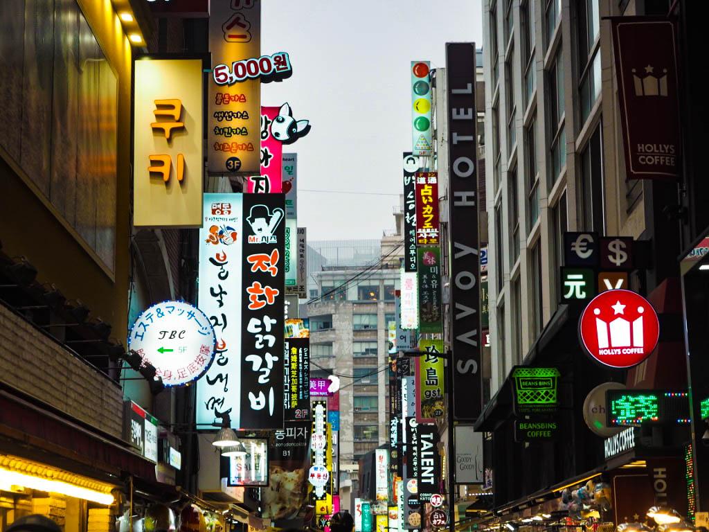 Myeongdong shopping street, Seoul