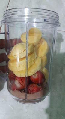 Smoothies Choco Banana Strawberry