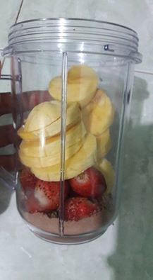 Smoothies Choco Banana Strawberry