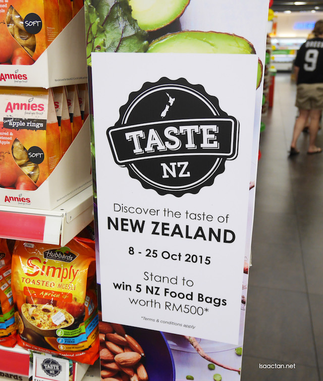 Taste New Zealand at all Cold Storage outlets across the country from October 8 till 25