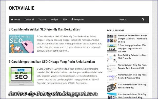 Belajar Membuat Blog dan Belajar Seo di Blog Oktavia
