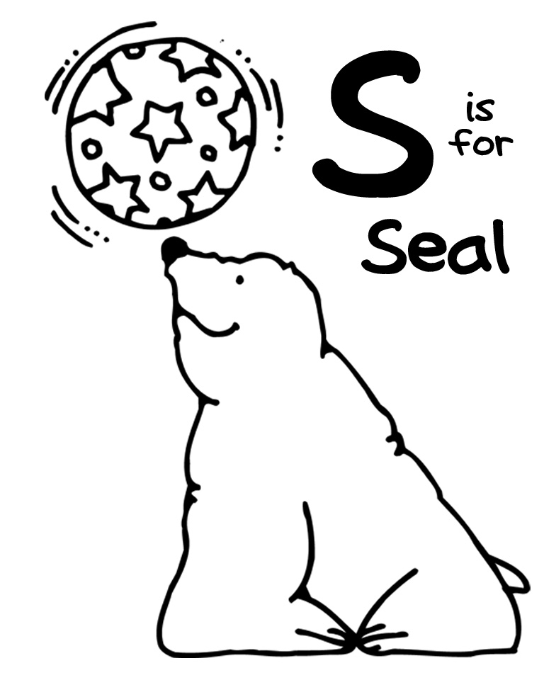 We Love Being Moms!: Letter S (Seal)