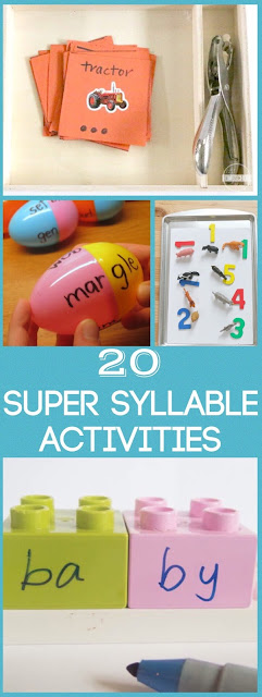 20 Fun and Clever Syllable Activities for kindergarten, 1st grade, 2nd grade for homeschool, learning centers