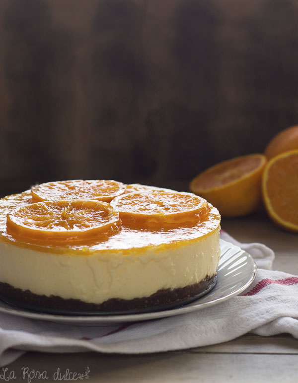 Tarta mousse de naranja | sin horno, sin gluten y sin lactosa | la Rosa dulce