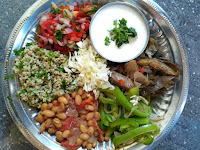 Chipotle style Burrito bowl  with a traditional, vegan,  Indian twist