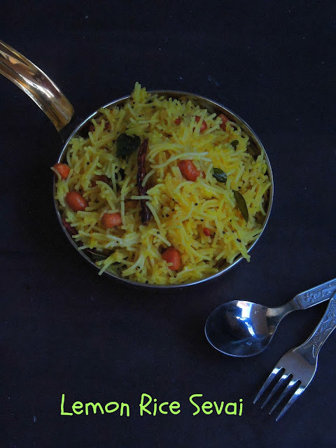 Vegan Lemon sevai, Lemon Rice Sevai