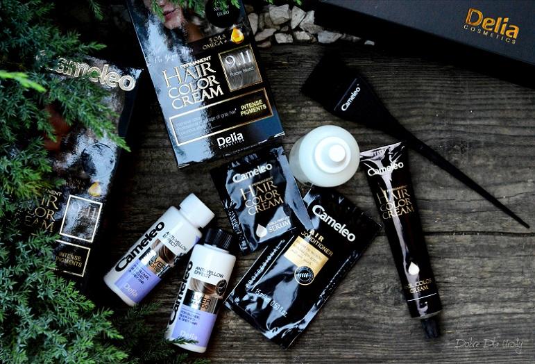 Domowa koloryzacja farbą do włosów Cameleo OMEGA+ Frozen Blond 9.11 Delia