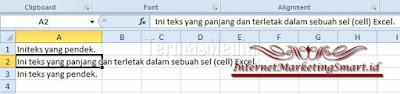 Cara Menggunakan Microsoft Office Excel, Cara Merapikan Paragraf, Cara Merapikan Agar Tulisan Pas Dengan Ukuran Sel Di Excel,