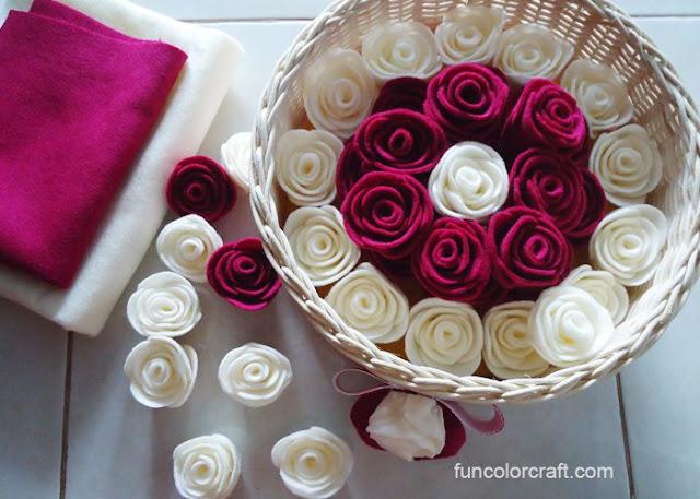 Cara Mudah Membuat Bunga Mawar Dari Flanel