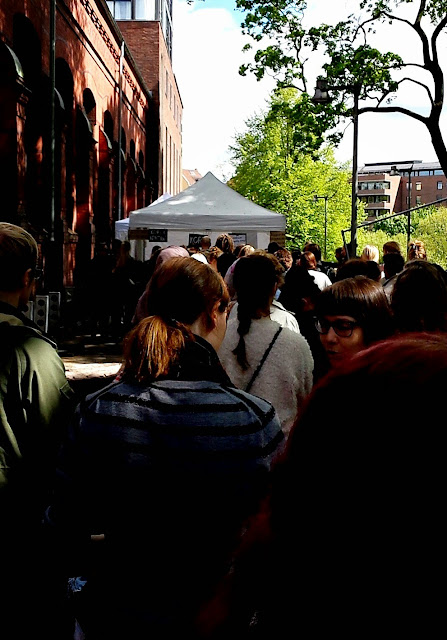 Queue to the Oslo Vegetarian Festival 2015