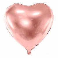 ballon misty coeur rose or decorer le bonheur