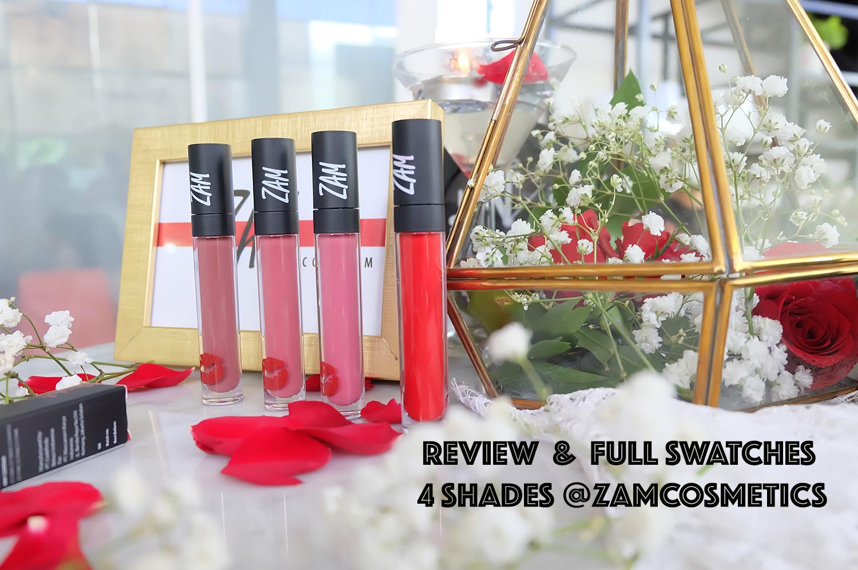 Review Lip Cream Zam Cosmetics Lipstick Artis Zaskia Adya Mecca Lipcream Lipstik